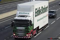 Scania G400 4x2 Tractor with 3 Axle Box Trailer - PJ12 KVP - Katey Margaret - Eddie Stobart - M1 J10 Luton - Steven Gray - IMG_6872