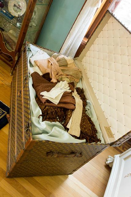 Louis Vuitton trunk at Maymont Mansion