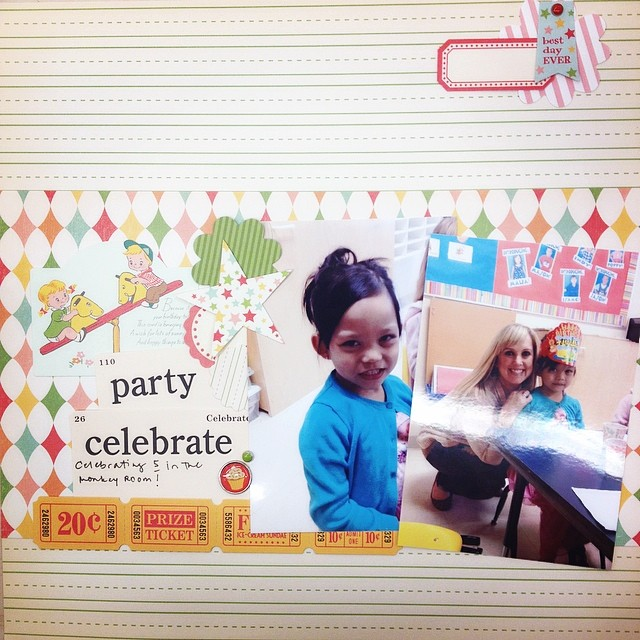 Another one! #iscrapped #scrapbook #scrapbooking #scrapbooklayout #ilovewhatido #ilovethishobby #nsd10k