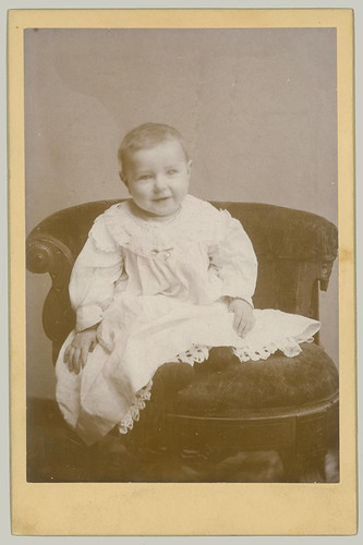 Cabinet Card baby and smock