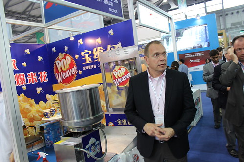 FAS Administrator Phil Karsting visits the USA pavilion at SIAL China 2014.