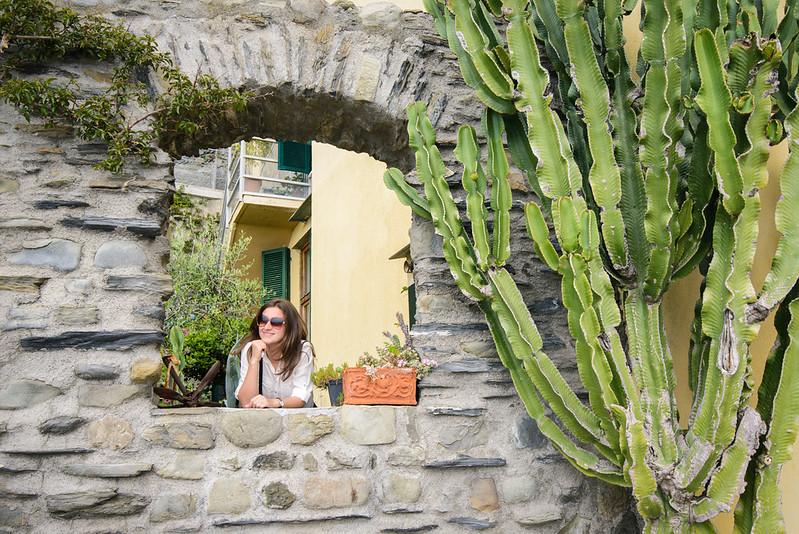 Manarola, cactus, Italy