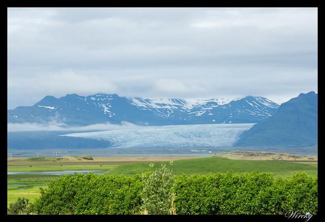 Islandia Höfn fiordos Djúpivogur Stödvafjördur Litlanesfoss Hengifoss - Nesjum con el glaciar Vatnajökull