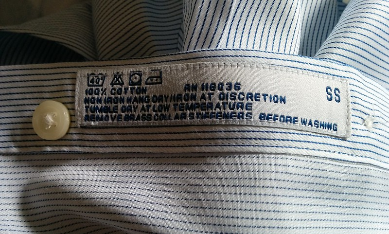 Charles Tyrwhitt shirt label