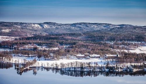 3 vinter sverige swe västragötaland flygfoto baldersnäs billingsfors