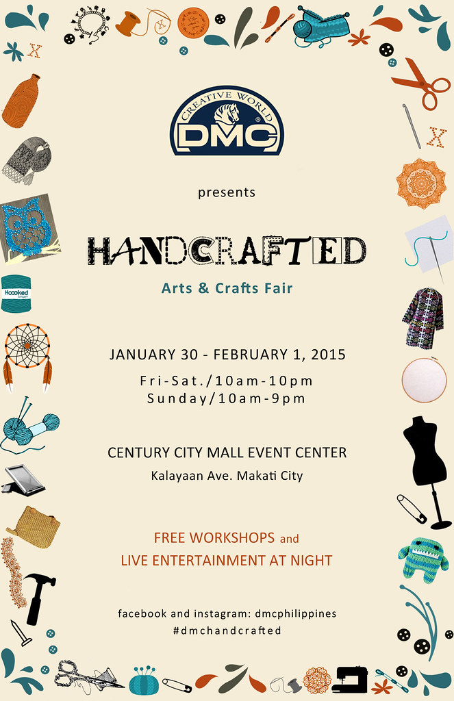 DMC handcrafted leaflet front 55 x 85