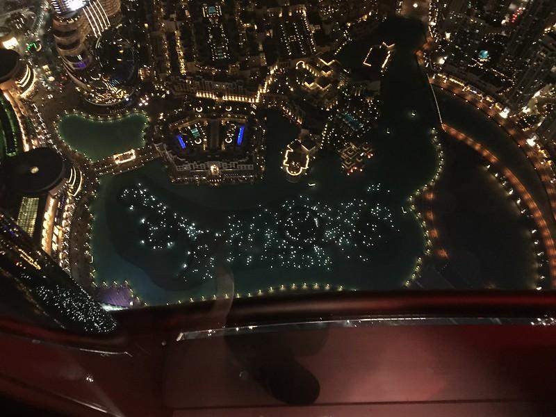 Dubai Fountain as seen from the Burj Khalifa