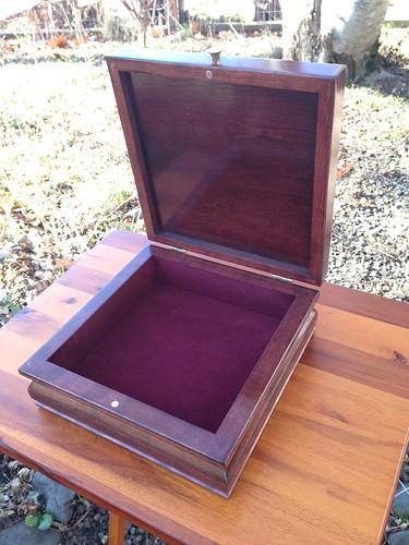 Finished hardanger box