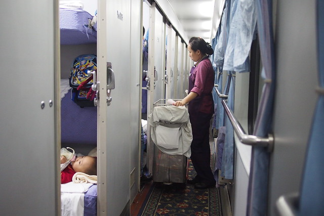 train attendant, sleeper train from Guangzhou East Railway Station to Nanning