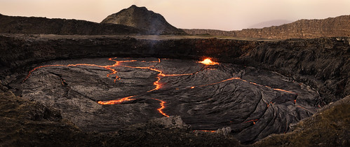 africa travel panorama orange hot nature rock danger zeiss 35mm landscape fire death volcano lava dangerous energy glow force sony birth hell explosion adventure creation crater caldera heat glowing fe ethiopia alpha volcanic geothermal epic a7 harsh magma active molten tectonic otherworldly lavalake jawdropping geologic greatriftvalley afarregion danakildepression sonnartfe35mmf28za