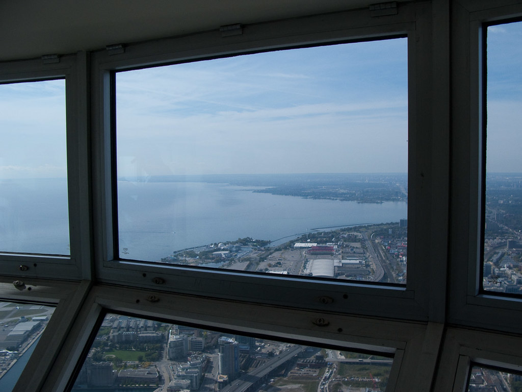 Windows in Skypod at CN Tower