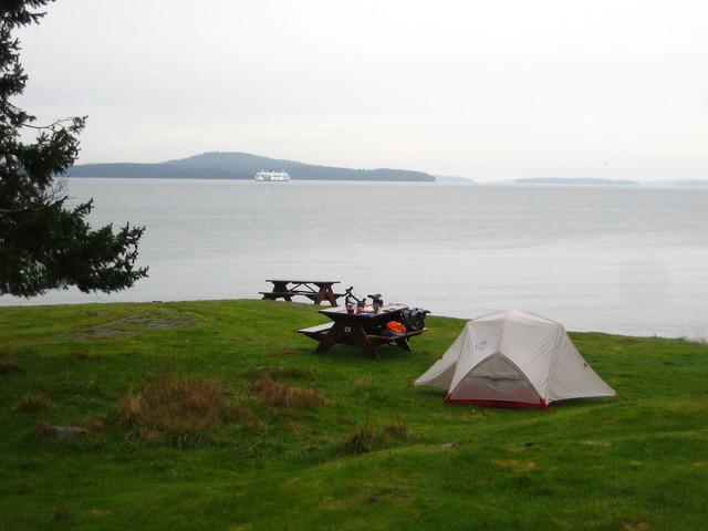 Bike + Tent + View