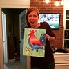 Manhattan Pres women did a paint and wine event tonight. Here's Laura's beautiful creation.