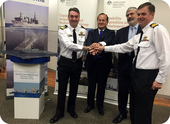 Navantia firma el contrato con Australia para la construcción de dos buques logísticos