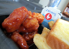 Boneless Wings, Toast And Fries.
