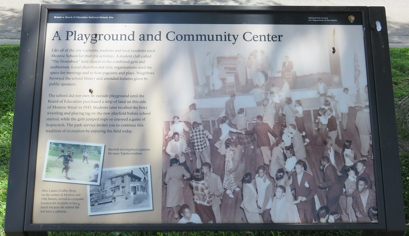 A Playground and Community Center Marker (Brown v. Board of Education National Historic Site, Kansas)