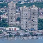 Galaxy Towers on the Hudson River, Guttenberg, New Jersey