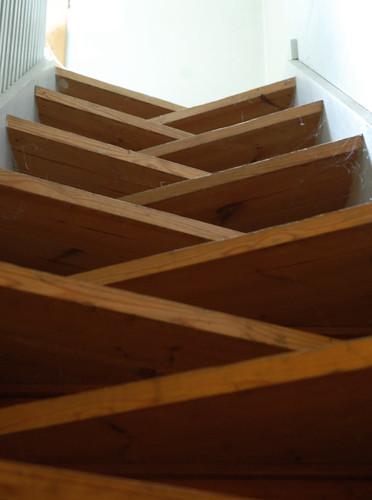 hans chr. hansen, architect: ringbo nursing home, bagsværd, copenhagen 1961-1963. basement stairs.