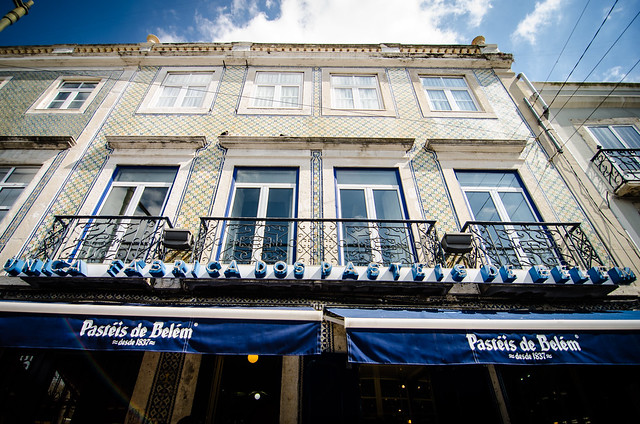 The most famous pastry shop in Lisbon, Fábrica de Pasteis de Belém, don't miss their amazing egg pastry.