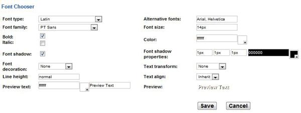 glassy-menu-font