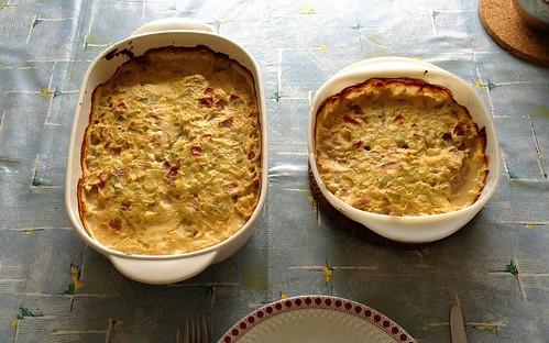Frischkäse-Schinken-Schweineschnitzel - fertig gebacken / Cream cheese ham pork schnitzel - finished baking