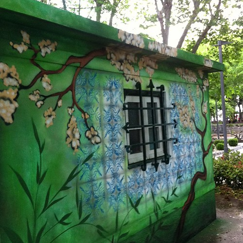 #window #green #colors #graffiti by Joaquim Lopes