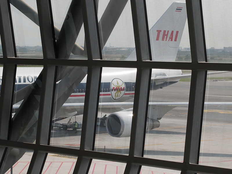 Old Color Scheme of TG B747 in Suvarnabhumi International Airport