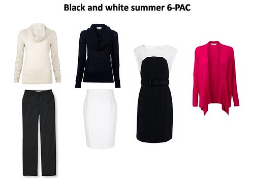 Wardrobe plan - BW summer 6PAC