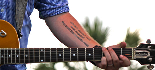 Jason Isbell tattoo guitar