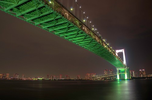 Night Lights at レインボーブリッジ (Rainbow Bridge)