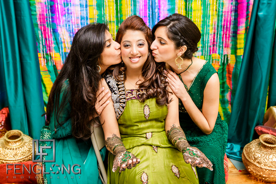 Bride and her friends during mehdni night