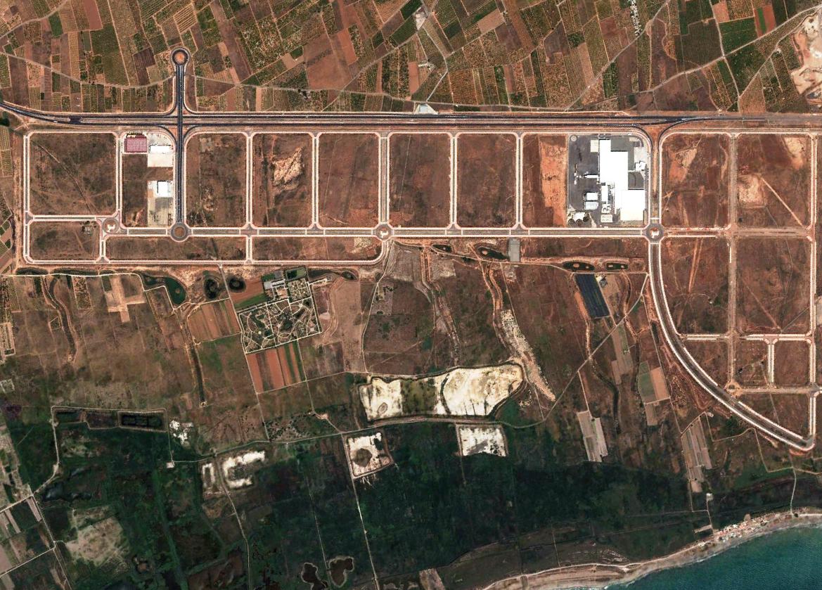 urbanismo, grau vell, después, crecimiento, puerto, 2012, vista aérea
