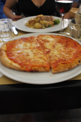 Pizza meal in Florence