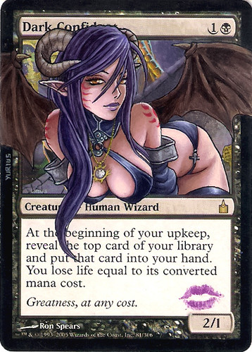 Dark Confidant Magic the Gathering artwork hot Magic art hot girl Dark Confidant altered art mtg alter card art magic card art gallery Magic artwork hot alter