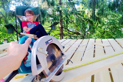 day 3277: (finally!) building and enjoying the deck on The World's Most Awesome Treehouse(s)! V.