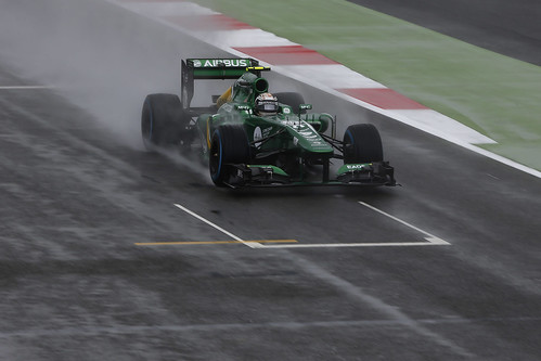 Giedo van der Garde on track in FP1 at the 2013 British Grand Prix - Friday