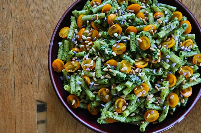 4 Herb Pasta Salad with Cherry Tomatoes and Pine Nuts