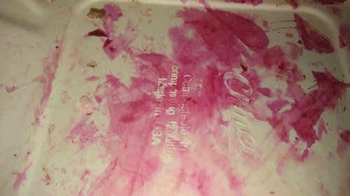 Beet juice and embossed letters by christopher575