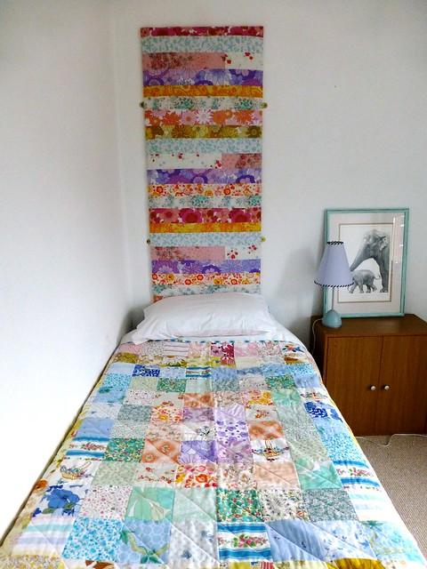 Bedroom makeover - vintage sheets