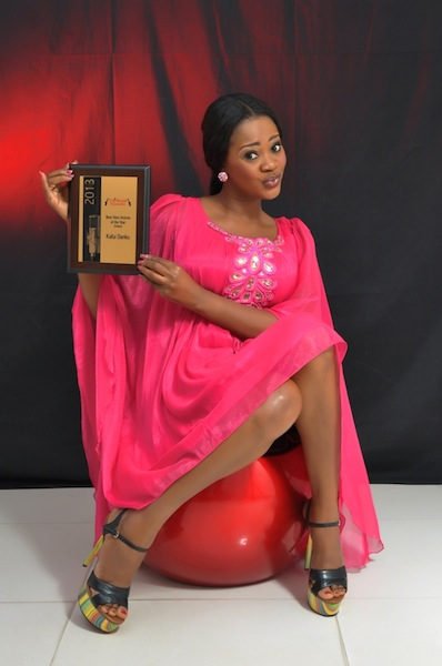 Kafui Danku with her Best New Actress of the Year award