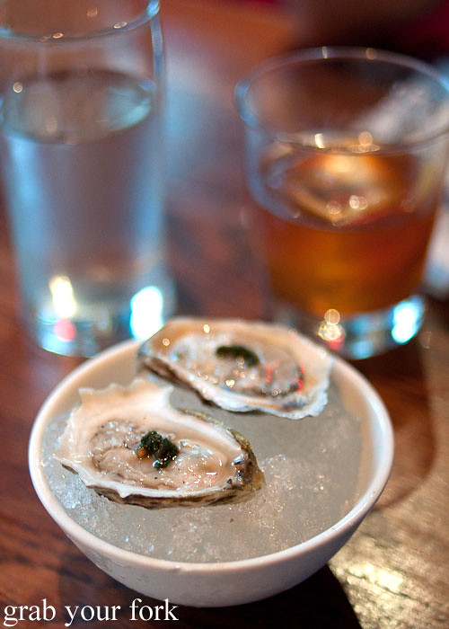 east beach blonde oysters seafood at momofuku ssam bar nyc new york david chang