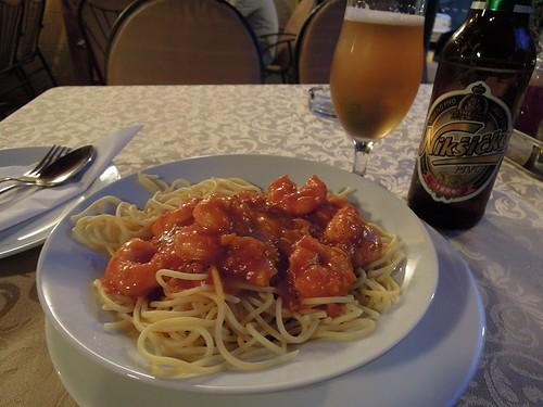 海老入りスパゲッティ