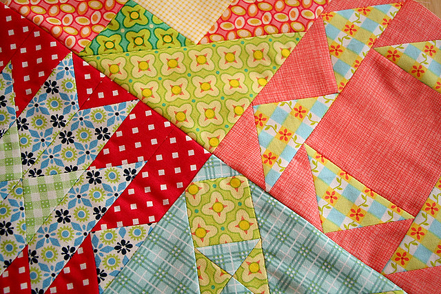 Farmer's Wife baby quilt WIP