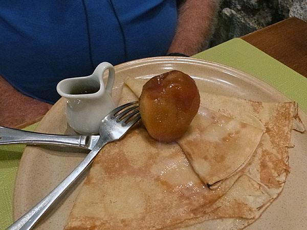crêpe pomme et calva