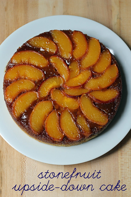 stonefruit upside-down cake