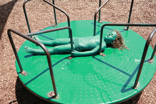Bodypainting Child merry go round