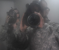 soldier, gas mask, mask,
