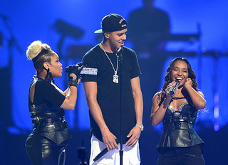 J Cole performs with TLC & Miguel at iHeartRadio Music Festival