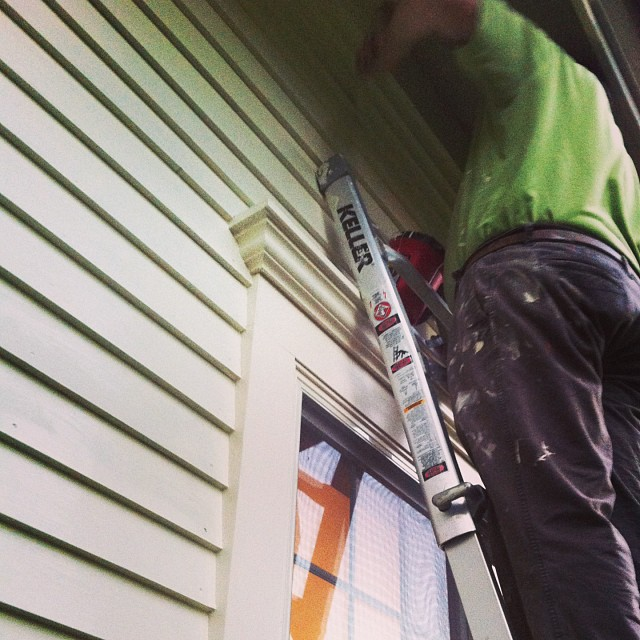 Painting in the near dark. #homestead #housepainting #homeimprovement #diy