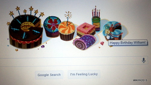 Google Wishes Me Happy Birthday by williamnyk
